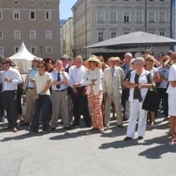 Gäste bei der Eröffnungsfeier auf dem Kapitelplatz, 26.07.07