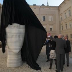 Enthüllung der Skulptur am 9. Oktober 2010