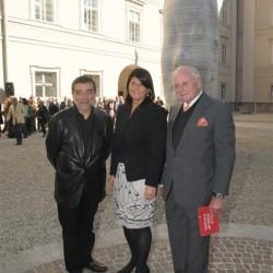 v.l.n.r. Jaume Plensa, Mag. Gabi Burgstaller, Prof. Dr. h.c. mult. Reinhold Würth
