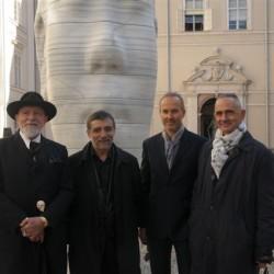 v.l.n.r. Markus Lüpertz (Kunstprojekt 2005), Jaume Plensa, Erwin Wurm (Kunstprojekt 2011), Manfred Wakolbinger (Kunstprojekt 2011)