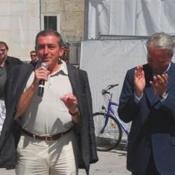 Ansprache von Bürgermeister Heinz Schaden (li., Vorsitzender Stifterrat Salzburg Foundation)
