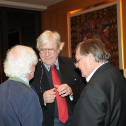 Prof. Bazon Brock und Prof. Peter Weibel