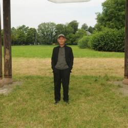 Zhang Huan auf dem Krauthügel, 2015 / Foto: Manfred Siebinger