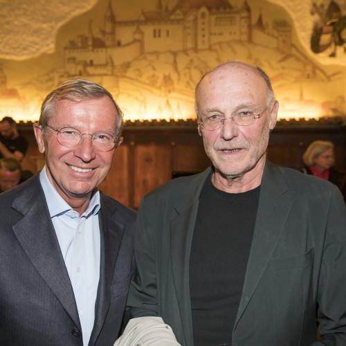 Eröffnung: v.l. Landeshauptmann Dr. Wilfried Haslauer, Anselm Kiefer / Foto: Andreas Kolarik