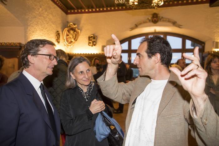 Thaddaeus Ropac, Waltraud Forelli und Paul Wallach, Foto: A.Kolarik