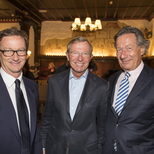 Thaddaeus Ropac, Dr. Wilfried Haslauer und Dr. Johannes Edelsbacher, Foto: A.Kolarik