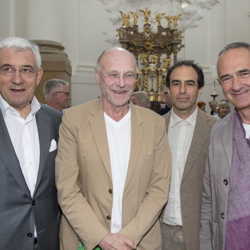 v.l. Walter Smerling, Anselm Kiefer, Paul Wallach, Manfred Wakolbinger / Foto: A.Kolarik