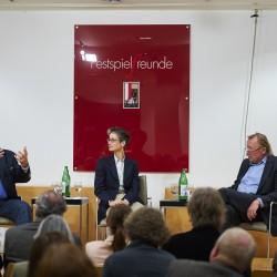v.l. Bazon Brock, Nadia Koch und Peter Sloterdijk.