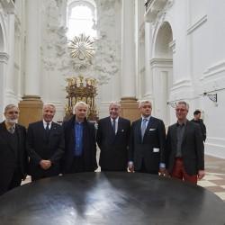 v.l. Johann Wilhelm Klaushofer; DDr. Karl Gollegger, Präsident der Salzburg Foundation; Berhard Leitner; Hilmar Kopper; Prof. Dr. h.c. Walter Smerling, Künstlerischer Leiter der Salzburg Foundation; Christian Wallisch-Breitsching.