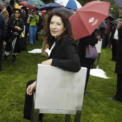 Marina Abramovic in Salzburg, 2004, Foto: Manfred Siebinger