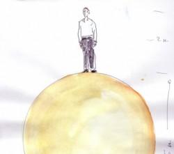 Entwurfszeichnung für die Skulptur Sphaera