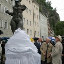 Enthüllung der Skulptur am 1. Juli 2005