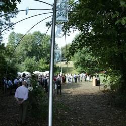 Enthüllung des Werks am 16. August 2003