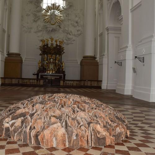 David Nash, Kunstprojekt Kollegienkirche 2017, © Manfred Siebinger
