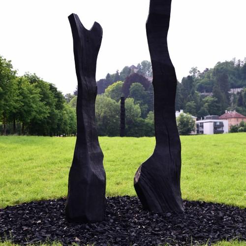 David Nash, Kunstprojekt Krauthügel 2017, © Manfred Siebinger