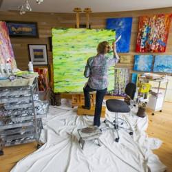 Susan Swartz in ihrem Atelier / Courtesy of Susan Swartz Studio, Foto: Mark Maziarz